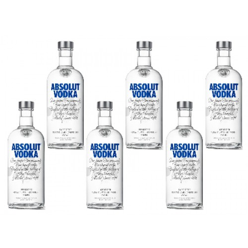 Vodka Absolut Original 6 Botellas SKU 44597