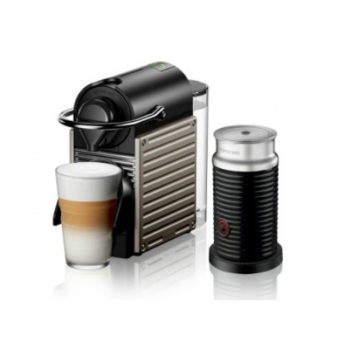 Cafetera Nespresso Pixie Titan + Aeroccino SKU 49409